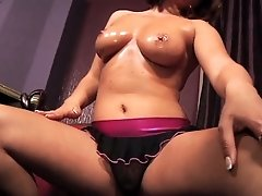 Busty chick taking throbbing hard cock