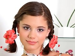 Pigtailed teen Caprice